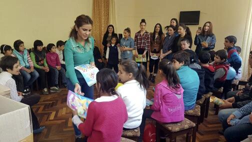 Благотворительный визит в специальную школу