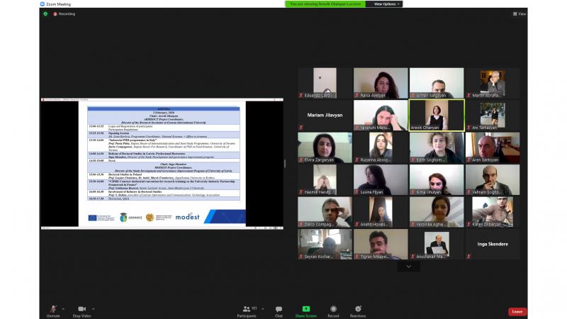 ASPU representatives participate in a webinar