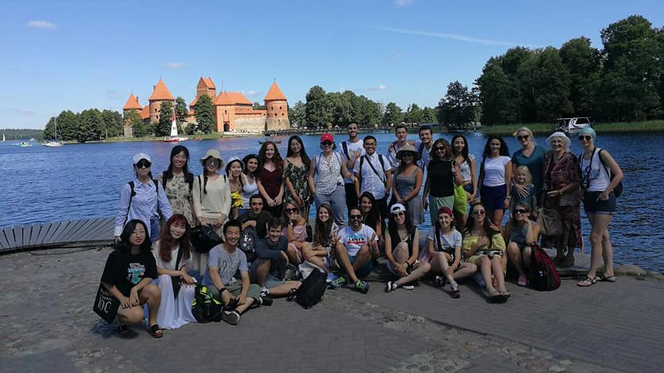 "Students of the ASPU at ""Summer School"" Lithuania"