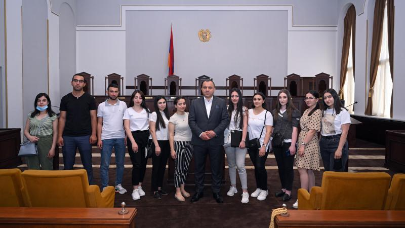 ՀՊՄՀ ուսանողներն այցելեցին Սահմանդրական դատարան
