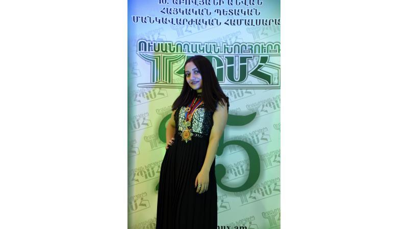 Tatev Arshakyan named ASPU's Best Student