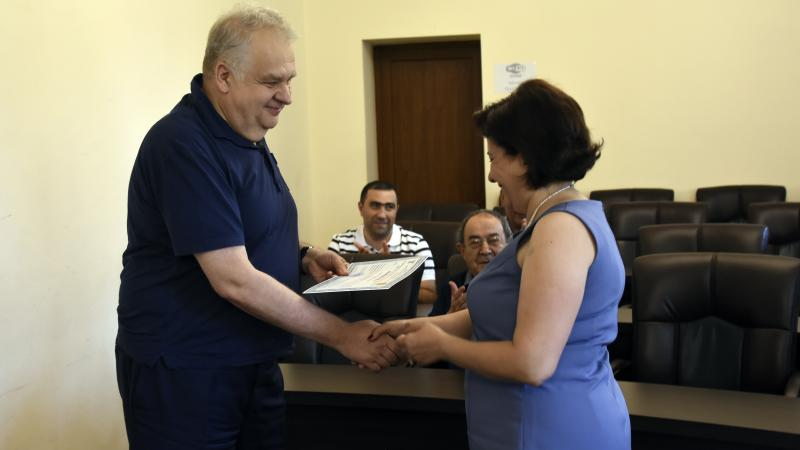 Management of Educational Institutions: Participants of training course receive certificates