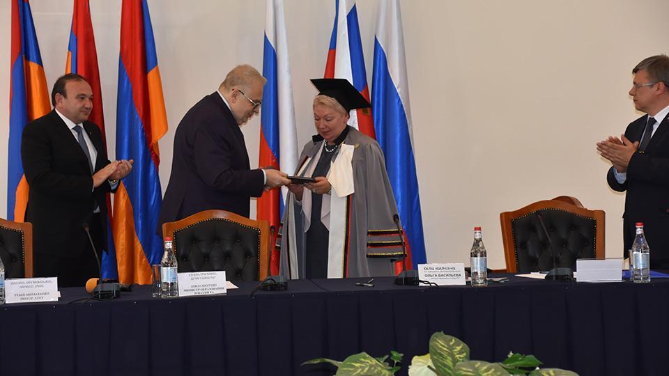ՌԴ ԿԳ նախարարը՝ ՀՊՄՀ-ի «Պատվավոր դոկտոր»