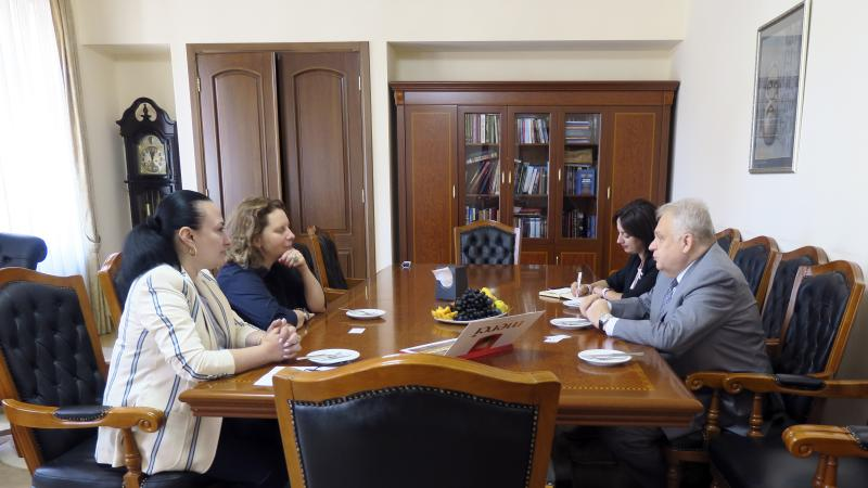 The Rector Welcomed the Head of the Council of Europe Office in Armenia Ms. Natalia Voutova