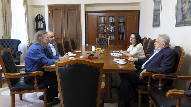 The Rector Welcomed AUA Armenologist Peter Cowe