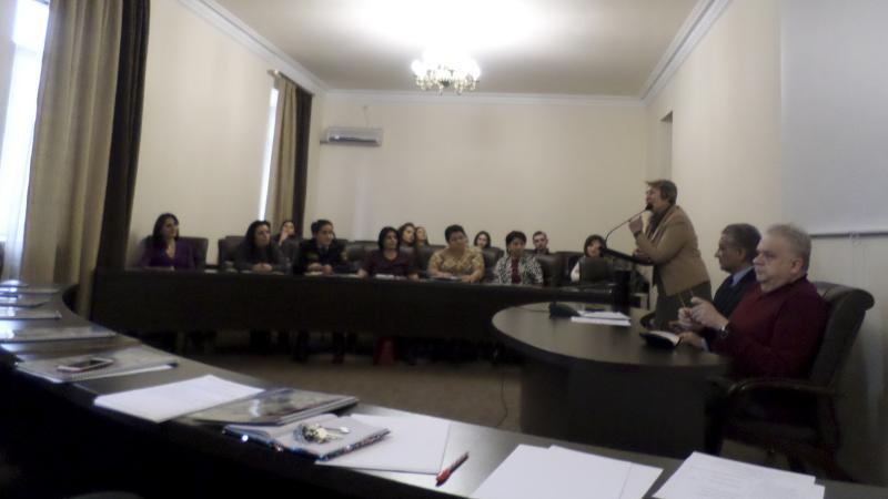 Meeting with degree seekers and postgraduate students