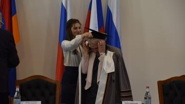 Russian Minister was awarded the title of Honorary Doctor of Armenian State Pedagogical University